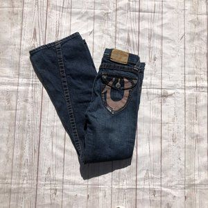 True Religion Girl's Flare leg Jeans with Flap poc